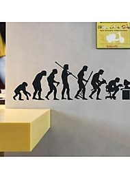 Wall Stickers Wall Decals, Human Being Evolution Darwinism Decoration PVC Wall Stickers
