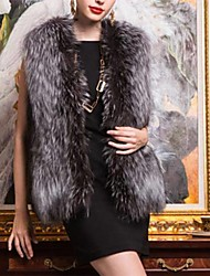 XT Women's Sleeveless Slim Temperament Elegance Fur Waistcoat