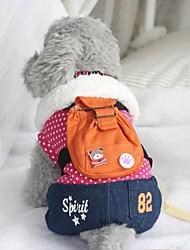 Pet Fashion mochila ursinho pontos adicionar macacões de lã para animais de estimação cães (cores sortidas, tamanhos)