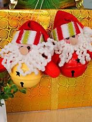 cloche vieux cerf de bonhomme de neige décoration de noël (jeu de 4)