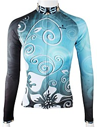 PaladinSport Women's Blue Proof Fence Spring and Summer Style 100% Polyester  Long Sleeved Cycling Jersey