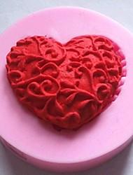 в форме сердца помадкой торт шоколадный силиконовые формы торт украшение инструменты, l4.8cm * w4.8cm * h1.2cm