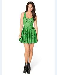 The Riddler Green Skater Dress Night Club Costume