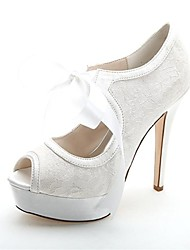 Women's Wedding Shoes Heels/Peep Toe/Platform Heels Wedding/Party & Evening Black/Blue/Pink/Ivory/White