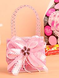 Elegant Satin Bowknot with Gems Favor Bag-Set of 12(More Colors)