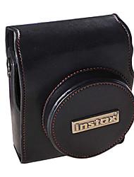mágico pu bolsa de couro da câmera para fujifilm mini90 (preto)