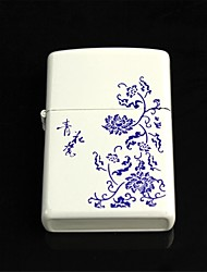 Blue And White Porcelain Pattern Oil  Lighter