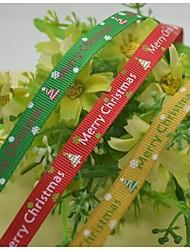 Impression noël et beau ruban de nervure de modèle de neige joyeux 3/8 pouces ribbon- 25 mètres par rouleau (plus de couleurs)
