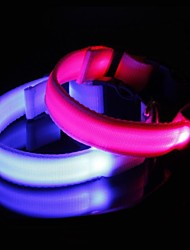 Striped Fiber  Luminous Safety LED Flash Collar for Dogs(Assorted Size,Assorted Color)