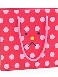Geschenke Brautjungferngeschenk bunte Stimmung muster rot Geschenk-Taschen mit rosa Punkten