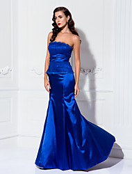 TS Couture® Formal Evening / Military Ball Dress - Open Back Plus Size / Petite Trumpet / Mermaid Strapless Floor-length Lace / Stretch Satin