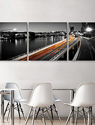 Stretched Canvas Print Art Landscape Viaduct Set of 3