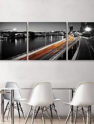 Stretched Canvas Print Art Landscape Viaduct Set of 3