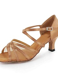 Latin Customized Women's Sandals Customized Heel with Buckie Dance Shoes (More Colors)