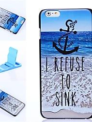 Sandbeach Pattern Plastic Hard Cover for iPhone 6 Plus