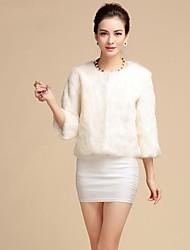 женская мода искусственного меха пальто
