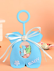 Baby Cloth Design with Bowknot Favor Bag-Set of 12