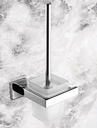 Toilet Brush Holder Stainless Steel Wall Mounted 14.8*13.6*34cm(5.83*5.35*13.39inch) Stainless Steel / Ceramic Contemporary