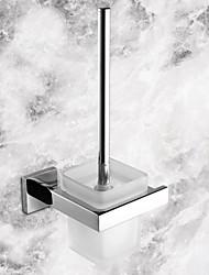 titular escova de vaso sanitário, espelho contemporâneo acabamento polido material de aço inoxidável, acessório do banheiro