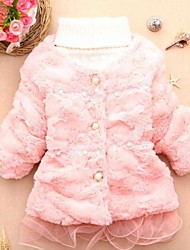 Girl's Faux Fur/Polyester Jacket & Coat , Winter/Fall Long Sleeve