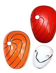 Maske Inspiriert von Naruto Akatsuki Anime Cosplay Accessoires Maske Rot / Orange PVC Mann