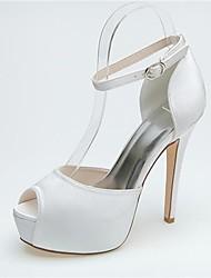 Mujer Zapatos de boda Tacones/Punta Abierta/Plataforma Tacones Boda/Fiesta y Noche Negro/Azul/Rosa/Morado/Marfil/Blanco/Plata