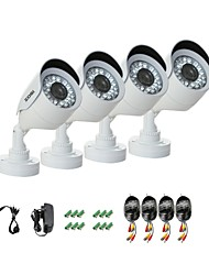ZOSI® 4 pcs Camera Kit 700TVL IR Cut Waterproof Outdoor Day Night CCTV Seurity Camera