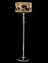 lámpara de pie de cristal con la talla de loto sombra 220v