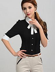 Pretty Baby Fashion OL Style Slim Blouse C085#Black