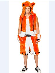 luxo de pele de raposa laranja traje de Halloween dos homens adultos (adequado para 168-180cm homens)