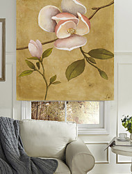 Oil Painting Style Blooming Floral Roller Shade