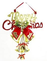 décorations de Noël l'arbre pendentif réseau d'horloge noël en anglais (couleur aléatoire)