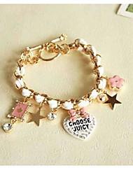 Women's Heart Star Pendants Bracelet