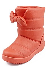 Girls'Shoes Comfort Snow Boots Flat Heel Mid-Calf Boots with Bowknot More Colors available