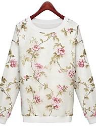 Frauen Organza Druck Nähte Pullover