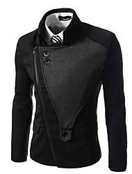 WANT Men's Long Sleeve Slim Lapel Neck Causual Suit Blazer