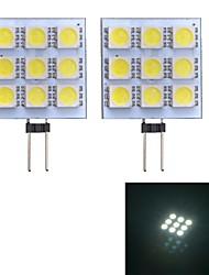 Luces de Doble Pin G4 W 9 SMD 5050 90~100 LM 6000~6500 K Blanco Fresco DC 12 V