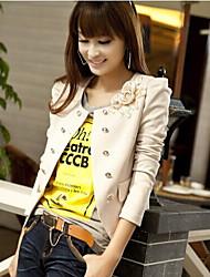 Round Collar Double Breat Long Sleeve Coat
