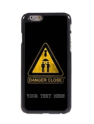 caja del teléfono personalizado - primer caso de diseño de metal peligro para el iphone 6