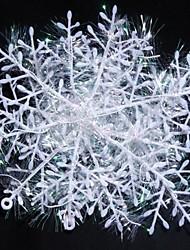 22см Рождество украшен снежными 6шт