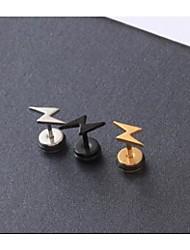 aretes de acero de titanio rayo europeos (multicolor) (3 pc)