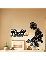 música menino murais adesivos de parede adesivos de parede parede