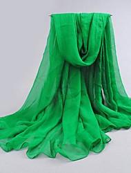 женская мода зеленый шифоновый шарф