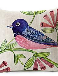 Profilo cotone uccello / copertura del cuscino decorativo biancheria