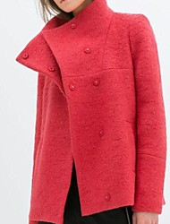 макет шеи минималистичный цикл твид пальто женщин