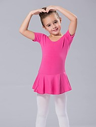 Kids' Dancewear Dresses Women's Children's Spandex Short Sleeve