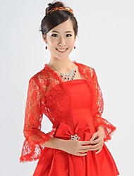Wedding  Wraps Coats/Jackets Long Sleeve Lace Ruby Wedding Lace
