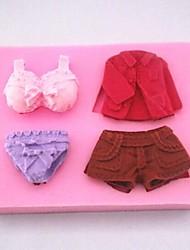 robe pantalon sous-vêtements fondantes outils gâteau silicone moule à cake de décoration, l8.5cm * * w6.3cm h1.8cm