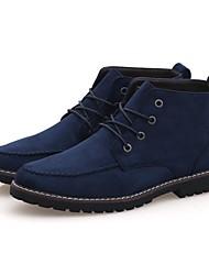 Sapatos Masculinos Botas Preto / Azul / Marrom Couro Casual