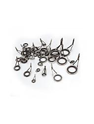 Caña de pescar guía polo superior del anillo kit de reparación ojo punta 35x 6 tamaños de acero inoxidable